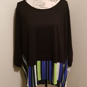 Women's NY Collection Blouse 3X Nwt